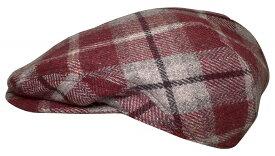 帽子・大きいサイズOK チェックウール484ハンチング sp140【現品限り】