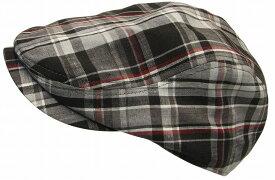 帽子大きいサイズOKヘンプチェック464ハンチング【現品限り】
