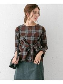 [Rakuten Fashion]チェックリボンブラウス ROSSO アーバンリサーチロッソ シャツ/ブラウス シャツ/ブラウスその他 ブラウン ベージュ【送料無料】