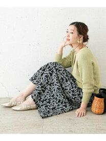 [Rakuten Fashion]フリージアフラワープリントスカート ROSSO アーバンリサーチロッソ スカート スカートその他 ブラック ベージュ グリーン【送料無料】