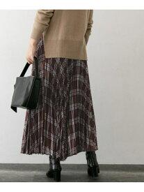 [Rakuten Fashion]【SALE/50%OFF】チェックプリーツスカート ROSSO アーバンリサーチロッソ スカート スカートその他 ブラウン ベージュ【RBA_E】【送料無料】