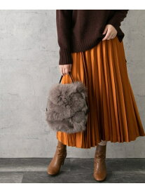 [Rakuten Fashion]サテンプリーツスカート ROSSO アーバンリサーチロッソ スカート スカートその他 オレンジ グリーン ネイビー【送料無料】