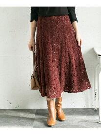 [Rakuten Fashion]フラワーレースモールスカート ROSSO アーバンリサーチロッソ スカート スカートその他 ブラウン ベージュ ネイビー ブラック【送料無料】