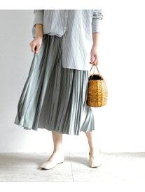 [Rakuten Fashion]ヴィンテージサテンプリーツスカート ROSSO アーバンリサーチロッソ スカート スカートその他 グレー ネイビー【送料無料】