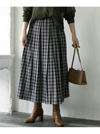 [Rakuten Fashion]ミニチェックボックスタックスカート ROSSO アーバンリサーチロッソ スカート スカートその他 ブラック ベージュ【送料無料】