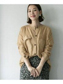 [Rakuten Fashion]ノーカラーミリタリーシャツ ROSSO アーバンリサーチロッソ シャツ/ブラウス シャツ/ブラウスその他 ベージュ グレー【送料無料】