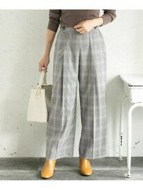 [Rakuten Fashion]サイドボタンチェックワイドパンツ ROSSO アーバンリサーチロッソ パンツ/ジーンズ パンツその他 グレー ブラウン【送料無料】
