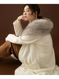 [Rakuten Fashion]ファー付きニットコート ROSSO アーバンリサーチロッソ コート/ジャケット コート/ジャケットその他 ホワイト ブラウン【送料無料】
