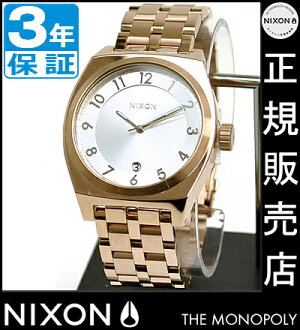 Review at 8000 Yen coupon-giveaway during ★ [regular 3-year warranty] A3251044 Nixon monopoly Nixon watch ladies watch NIXON watch NIXON THE MONOPOLY ROSE GOLD Nixon watch men's watches waterproof nixon watches 10P24Oct15