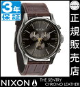 ニクソン 腕時計 送料無料 [正規3年保証] NA4051887 ニクソン セントリー クロノ レザー ニクソン 腕時計 メンズ 腕時計 クロノグラフ NIXON 時計 NIXON SENTRY CH