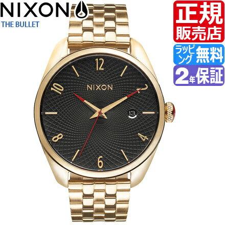【1000円割引クーポン!】 ニクソン 腕時計 送料無料 [正規3年保証] NA418510 ニクソン バレット レディース NIXON 時計 BULLET ALL GOLD/BLACK ニクソン 時計 nixon 腕時計 おしゃれ 時計 父の日