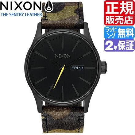 ニクソン セントリー レザー 腕時計 NA1053054 [正規3年保証] メンズ NIXON 時計 THE SENTRY LEATHER メンズ nixon 入学祝い 誕生日 彼氏 プレゼント おしゃれ ブランド おすすめ 人気