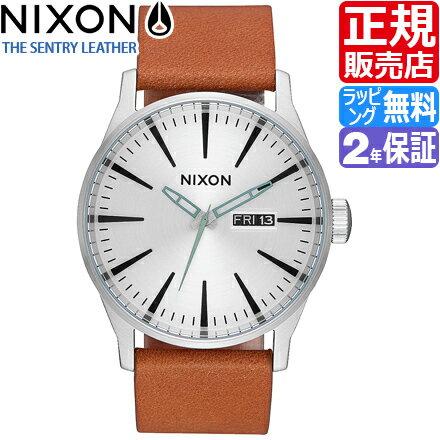 ニクソン セントリー レザー 腕時計 NA1052853 [正規3年保証] メンズ NIXON 時計 THE SENTRY LEATHER メンズ nixon 入学祝い 誕生日 彼氏 プレゼント おしゃれ ブランド おすすめ 人気