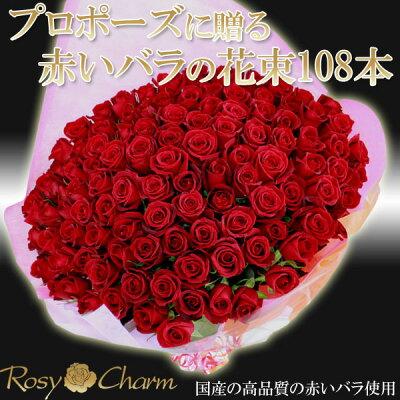 プロポーズバラ108本