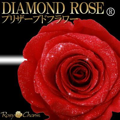 ダイヤモンドローズ1輪のバラ