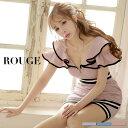 キャバドレス 大きいサイズ ドレス ミニ s m l xl サイズ オフショルダー フリル パイピング ライン タイトスカート …