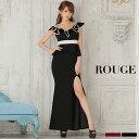 キャバドレス 大きいサイズ ドレス ミニ s m l サイズ ロングドレス ワンピース スリット オフショルダー フリル パイ…