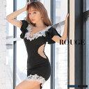 キャバドレス s mサイズ ドレス ミニ ワンピース レース 刺繍 フラワー 花 フリル チュール 透け シアー サイドシアー…