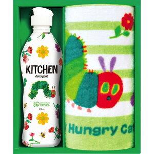 新作登場・贈り物におすすめはらぺこあおむしキッチン洗剤タオルセット(H-08AS)はらぺこあおむし柄ウォッシタオル1P箱入り キッチン洗剤ギフトセット 内祝・出産祝・誕生日・入園・御祝