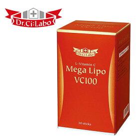 ドクターシーラボ高吸収型ビタミンCサプリメントメガリポVC100「メガリポVC100」は、美容と健康のために積極的に取り入れたいビタミンCを1包に高濃度1,000mg配合。【smtb-td】【RCP】10P05Nov16
