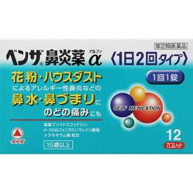 【第(2)類医薬品】 アリナミン製薬 ベンザ鼻炎薬α 12錠 【メール便対象品】
