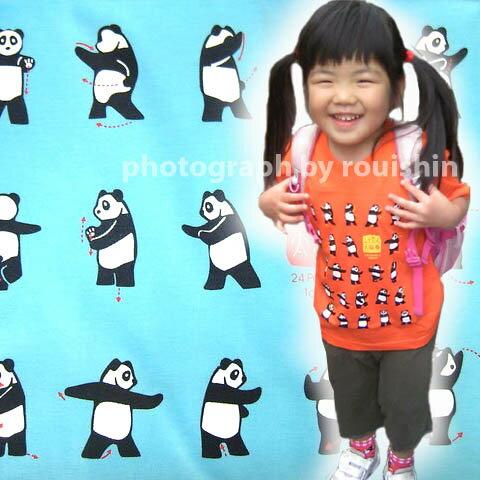 子供用ぱんだ太極拳Tシャツ(テイーシャツ)(Kid's) ネコポス便なら【送料無料】  rouishin0219