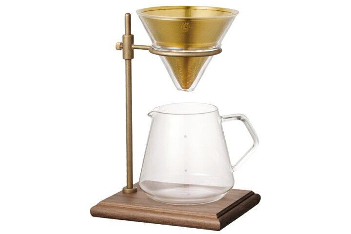 【送料無料】KINTO キントー スペシャルティー コーヒーサーバー&コーヒーブリューワー スタンドセットKINTO SLOW COFFEE STYLE Specialty 700ml スローコーヒースタイル 真鍮✕ウォールナットスタンド【ポイント】
