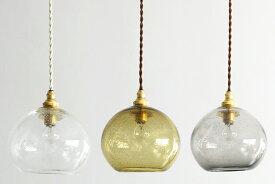 studio prepa × ROUND ROBIN Old Glass Pendant Lamp スタジオプレパ 気泡入りの吹きガラスのガラス照明 オールドグラス ペンダントランプ: