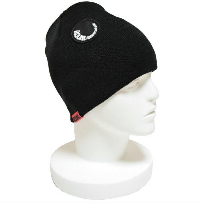 10%OFF スノーボード/スノボ/ニット帽/ショートビーニー(ラウンドスノーボードギア)黒/ヘルメット/ブランド/薄手/おしゃれ/かっこいい/スノーボード用品/小物/アクセサリー/短/スキー/スキー用品/ニット帽/ニットキャップ/メンズ/レディース/ブラック/温/冬/帽子