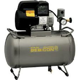 [0.4LE-8SB]スーパーオイルフリーベビコン LEシリーズ 無給油式 圧力開閉器式 単相100V 空気タンク容積:30L【送料無料】【日立産機システム】(0.4LE8SB)