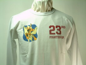 """Buzz Rickson's(バズリクソンズ)Long Sleeve T-Shirt FLYING TIGER (フライング タイガース)23rd FIGHTER GP. """"PINECASTLE A.F. BASE, FL"""""""
