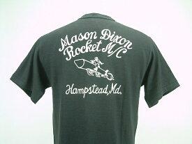 "WAREHOUSE(ウエアハウス)SHORT SLEEVE T-SHIRTSLot 4601 ""MASON DIXON""BLACK(スミクロ)"