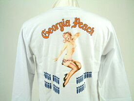 "Buzz Rickson's バズリクソンズ LONG SLEEVE T-SHIRT U.S. AIR FORCEFIFTH AIR FORCE FIGHTERSGIL ELVGREN COLLECTION""GEORGIA PEACH""BR67782"