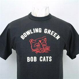 "WAREHOUSE(ウエアハウス)SHORT SLEEVE T-SHIRTSLot 4601 "" BOB CATS ""BLACK(ブラック)日本製"