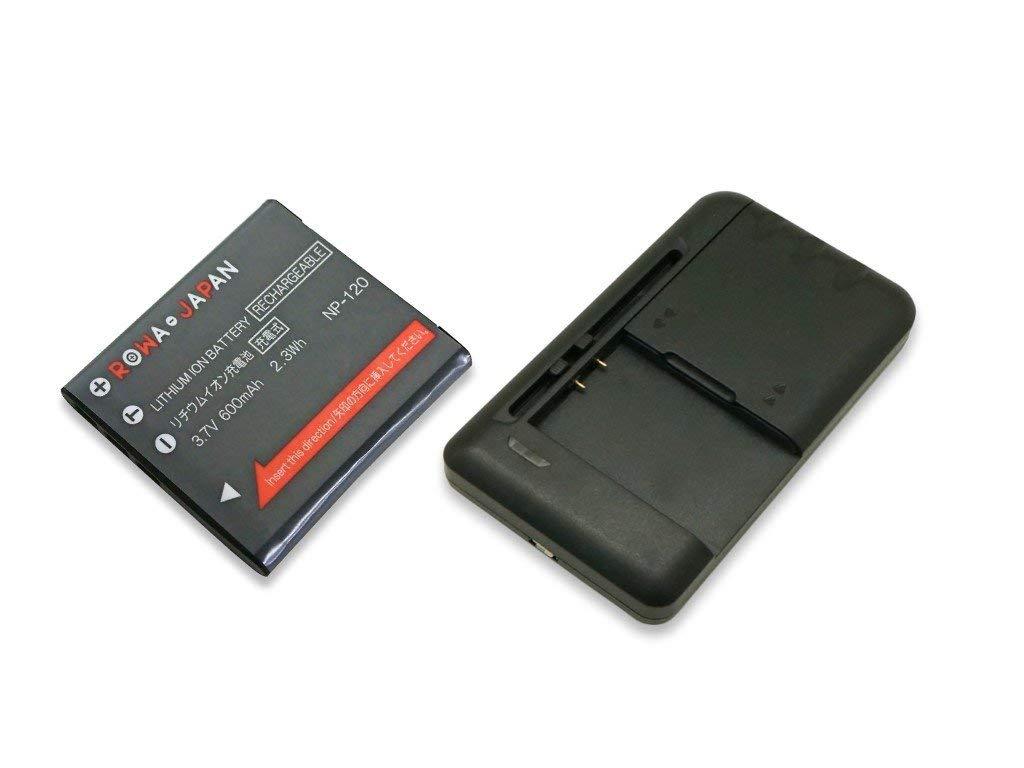 ●定形外送料無料●USB マルチ充電器 と CASIO カシオ の NP-120 互換 バッテリー【ロワジャパンPSEマーク付】