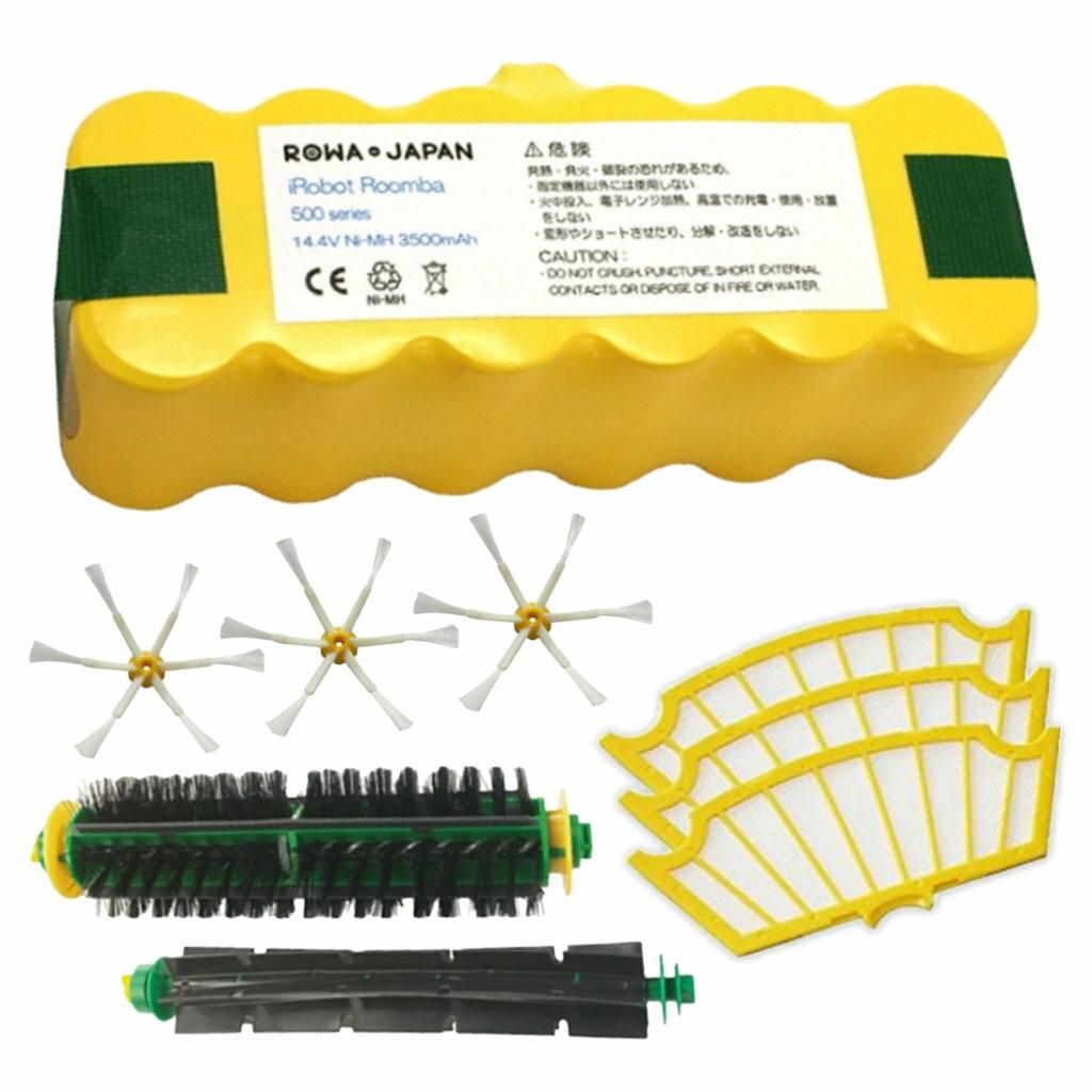 ●定形外送料無料●【ロワジャパン】『ROOMBA/ルンバ』500 シリーズ 【得】セット バッテリー + 各種クリーナーブラシ