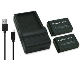 【USB充電器と電池2個】CANON キャノン LP-E12 互換 バッテリー