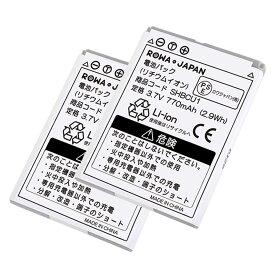 【2個セット】SoftBank ソフトバンク 108SH / 202SH 互換バッテリー SHBCU1 携帯 ガラケー 電池パック