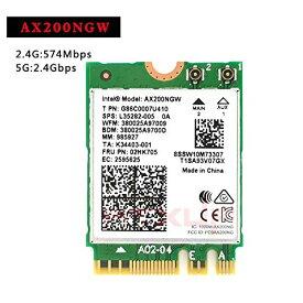 MU-MIMO AX200 AC AX200 Ngff WiFiカード AX200NGW M.2 NGFF 2.4 / 5ghz Bluetooth 5.0 802.11AX 802.11AX 2.4Gbps Windows 10 対応ワイヤレスカード