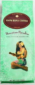 ハワイアンパラダイス100%コナコーヒー/粉タイプAD(198g)