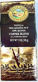 ロイヤルコナコーヒー・バニラマカダミア/粉タイプAD7oz(198g)