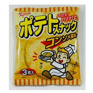 かとう製菓のポテトスナックコンソメ風味 3枚×20袋×3箱
