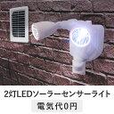 2灯 LED ソーラー センサーライト tsk | おしゃれ ledライト 人感センサーライト 外灯 庭 ガーデン ガレージ ソーラーライト 灯り