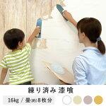 練り済み漆喰4kg×4袋日本製|リフォームリノベーションdiyしっくいペイント左官壁紙部屋塗装防カビ抗菌消臭塗料砂壁壁材国産防火漆喰塗料