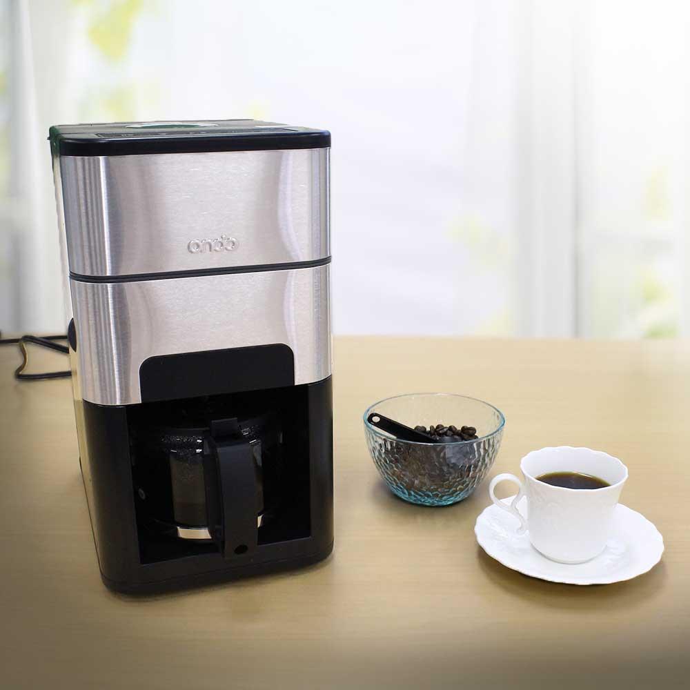 石臼式コーヒーメーカー tsk | おしゃれ 電動 ステンレス コーヒーメーカー 全自動 ミル付きコーヒーメーカー メーカー 石臼式 コーヒー ミル 珈琲ドリッパー コーヒードリッパー 珈琲 ドリップ 珈琲メーカー 全自動コーヒーメーカー 全自動コーヒーマシーン コーヒーマシン