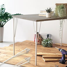 テーブルパーツ鉄脚4本セットtsk テーブル脚パーツ鉄脚インダストリアルビンテージデザインカフェ風ブラックホワイト