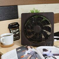 ボックスファン|木目調扇風機サーキュレーターせんぷうき卓上コンパクトミニDCモーター風量調節USB対応AC電源オフタイマー木目調ウッド