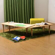 リビングテーブルセンターテーブルツイン|ローテーブルサイドテーブルモダンかわいいおしゃれ伸縮テーブル北欧天然木ナチュラルコーヒーテーブル