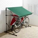 サイクルハウス | サイクルガレージ テント 庭 おしゃれ 家庭用 屋根 サイクルポート 屋外収納 自転車収納 物置 2台 …
