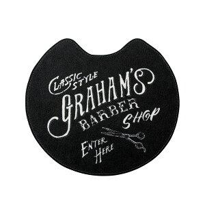 トイレマット Graham's Barber [グラハムズ バーバー] ブラック | トイレタリー おしゃれ お手洗い トイレ マット デザイン 男前デザイン ブルックリン 引っ越し 新生活